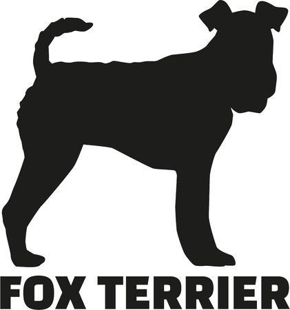 Fox Terrier avec le nom de la race