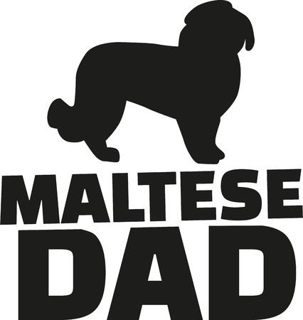 maltese dog: Maltese dog dad