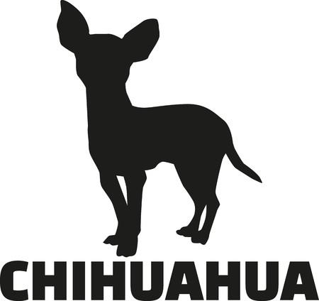 品種名前のチワワのシルエット