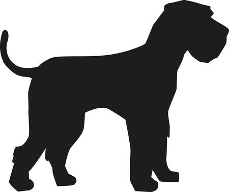 schnauzer: Giant Schnauzer silhouette Illustration