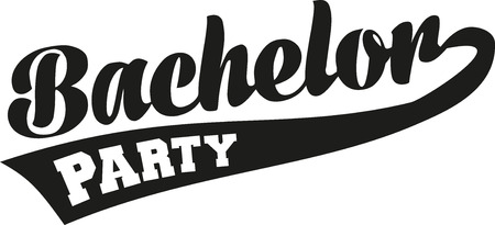 stag party: Bachelor party retro font