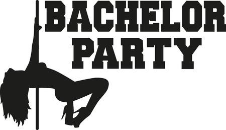 bachelor: Bachelor party with poledancing girl