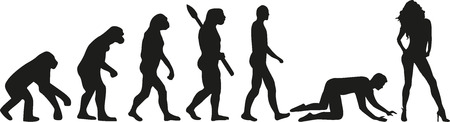 Wedding evolution - couple slave