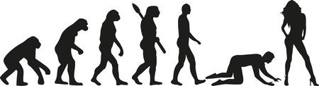 la evolución de boda - par de esclavos