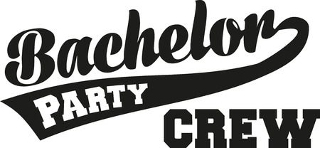 bachelor: Bachelor party crew with retro font Illustration