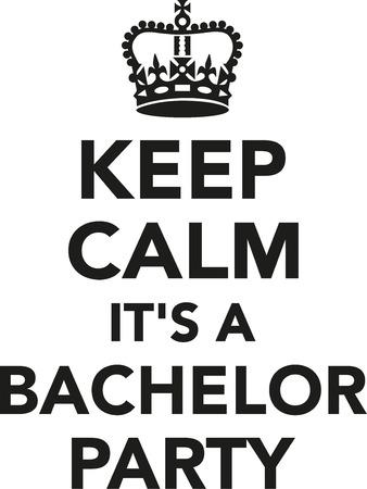Halten Sie ruhig es ist ein Bachelor-Partei