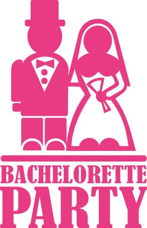 bachelorette party: Bachelorette party Illustration