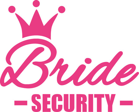 bride silhouette: Bride security Illustration