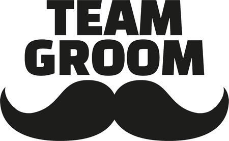 Team Groom with mustache Vettoriali