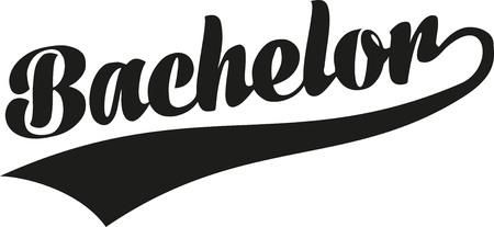 bachelor: Bachelor retro font Illustration