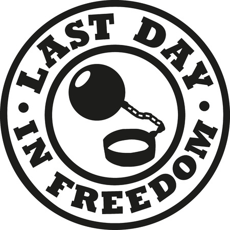 Last day in freedom bachelor party Vettoriali