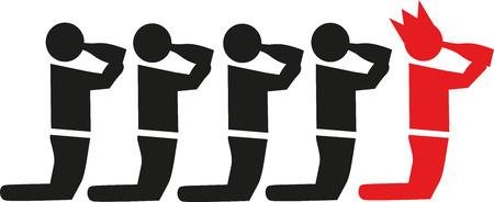 Bachelor partij pictogram Vector Illustratie
