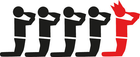 Bachelor party pictogram