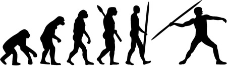 evolve: Javelin throw evolution Illustration