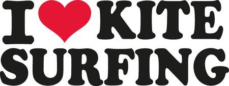 kite surfing: I love kite surfing