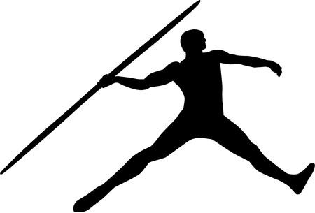 javelin: Javelin silhouette Illustration