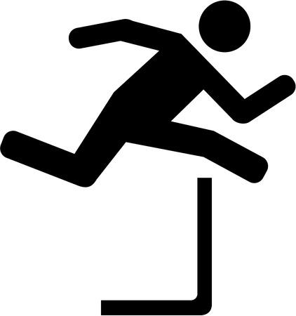 hurdling: Hurdles pictogram