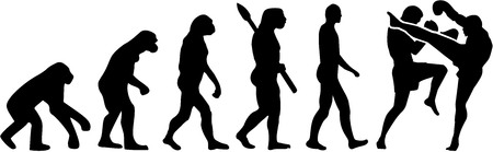 homo sapiens: Muay Thai fighter evolution Illustration