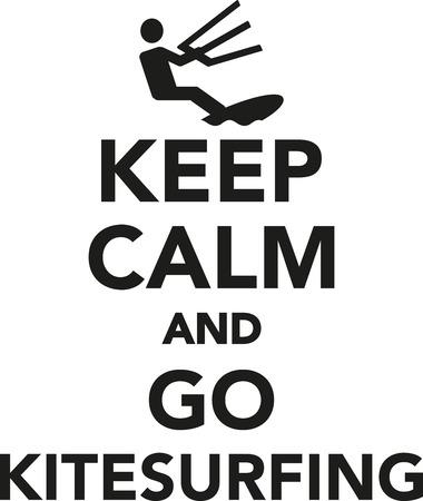 Keep calm and go kitesurfing