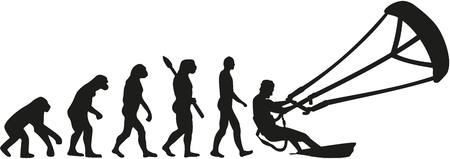 カイト サーフィンの進化  イラスト・ベクター素材
