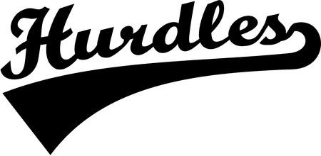 hurdles: Hurdles retro word