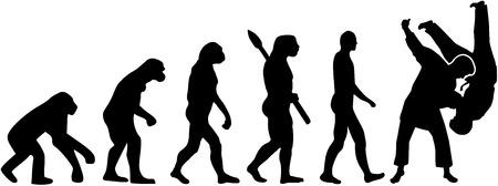 Judo fight evolution  イラスト・ベクター素材