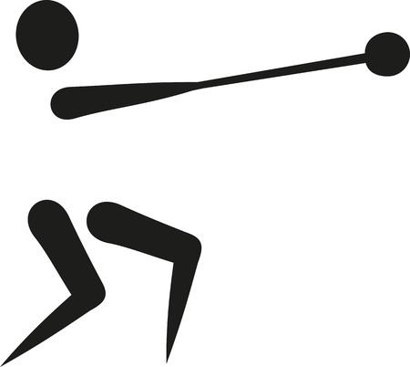 hammer throw: Hammer throw icon