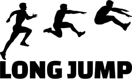 long jump: Long Jump sequence with word