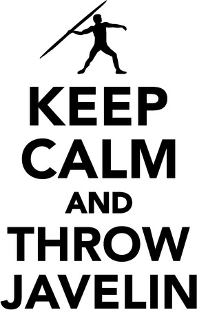 javelin: Keep calm and throw javelin