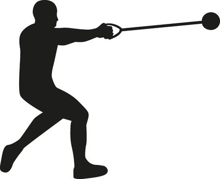 hammer throw: Hammer throw silhouette