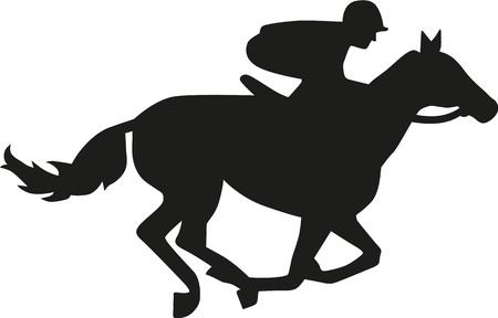 馬のレースのシルエット