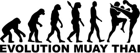 muay thai: Muay Thai evolution Illustration