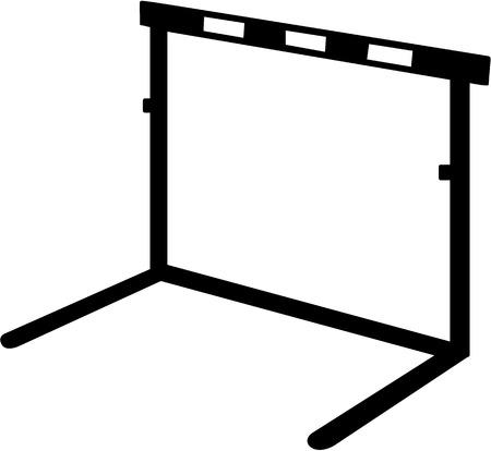 hurdle: Hurdle icon Illustration