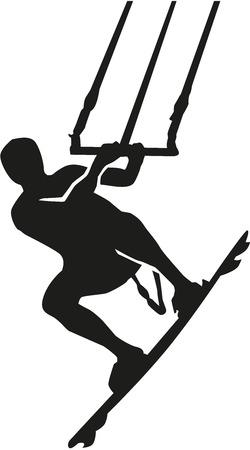 Kitesurfing silhouette