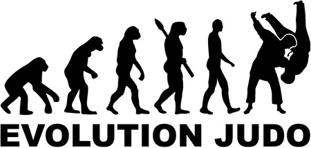 Evolution judo Illustration