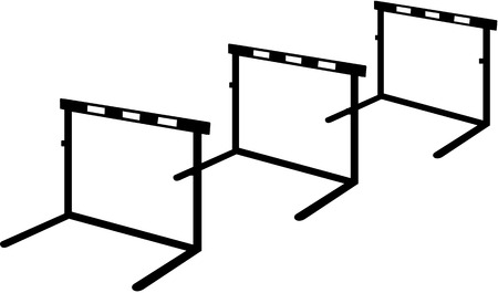 hurdles: Three hurdles in a row