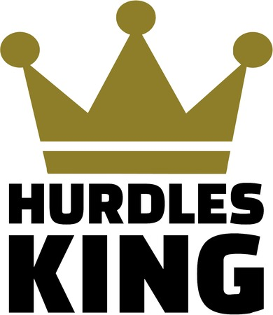 hurdles: Hurdles king Illustration