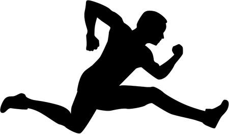 hurdling: Man Hurdling silhouette