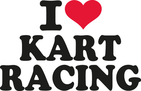 kart: I love Kart racing Illustration