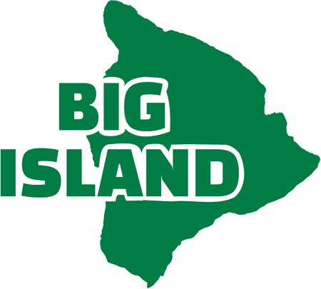 surfen: Big Island Hawaii map