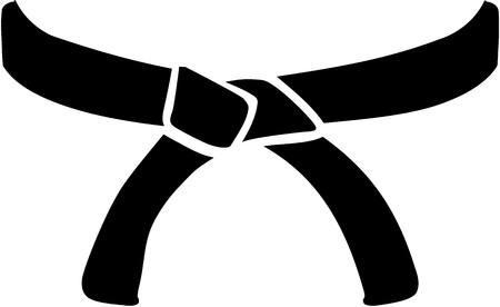 cinturón de judo Ilustración de vector