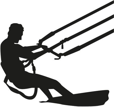 Kitesurfer silhouette