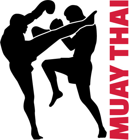 thai boxing: Muay thai word with fight
