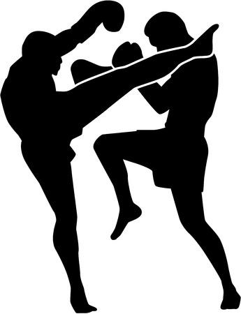 patada: Muay tailandés de combate