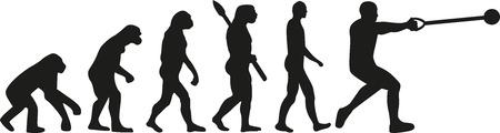sapiens: Hammer throw evolution Illustration