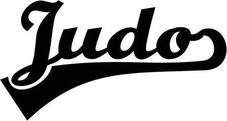 judo: Judo word retro