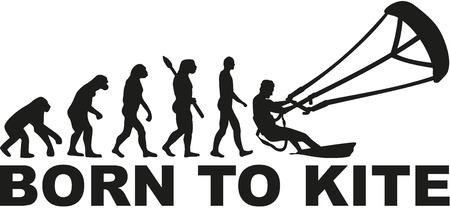Born to kite evolution Illustration