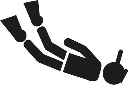 Snorkel pictogram