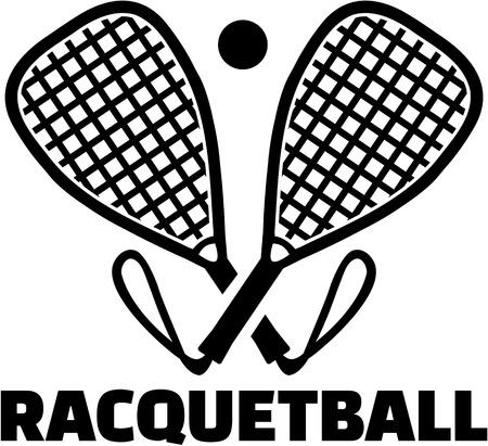 racquetball: Racquetball bats with ball