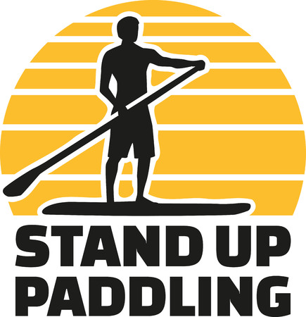 Stand up paddle icon